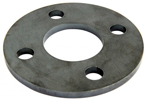 Ankerplatte ø 100 / 6mm, Eisen roh, Laserschnitt,