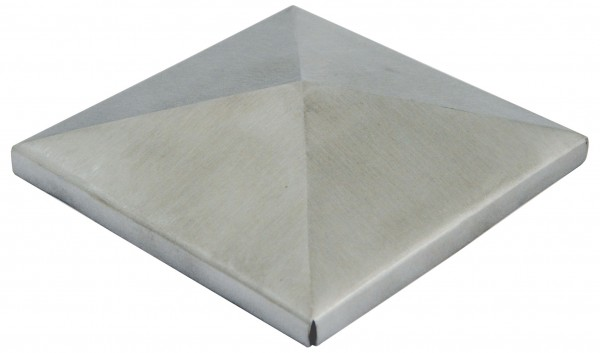 Zierkappe V2A, Korn 320 geschliffen, Größe 50x50mm