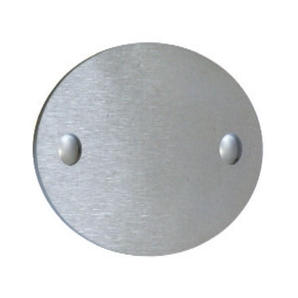 Ankerplatte oval 85x60, V2A,Stärke 5mm,Loch 8,5mm