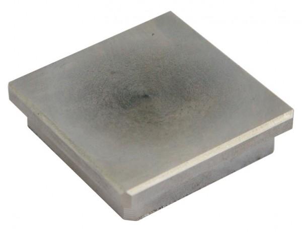 Endkappe V2A massiv-Viereckform f. Rohr 50/50/2mm