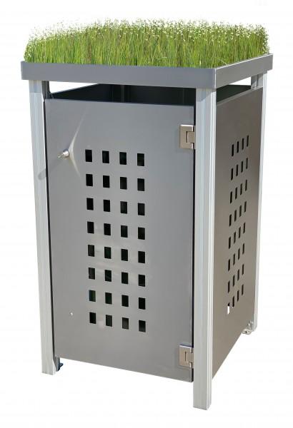 Müllbox Edelstahl mit Lochdesign Pflanzwanne