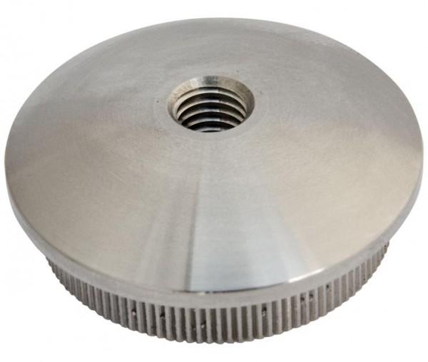 Endkappe,Edelstahl V2A, f.Rohr 42,4/3mm, M8,massiv