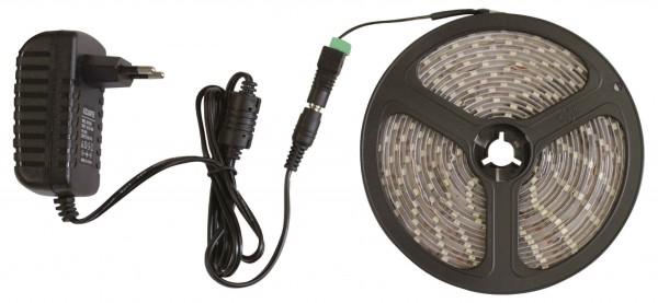 LED Beleuchtungsset 5m Warmweiß mit Netzteil
