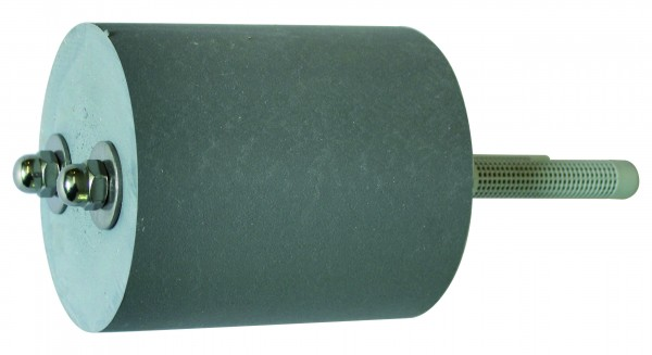 Kunststoffdistanz ø120x140mm,mit 2xGewindestangen