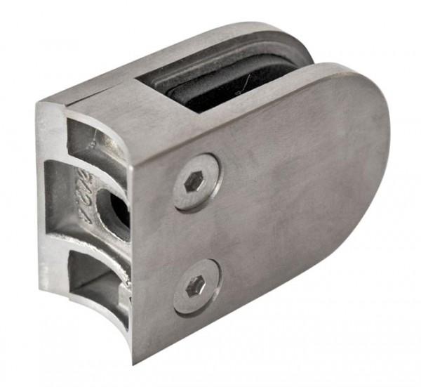 Glashalter 63x45mm V2A, Rohr 42,4mm,