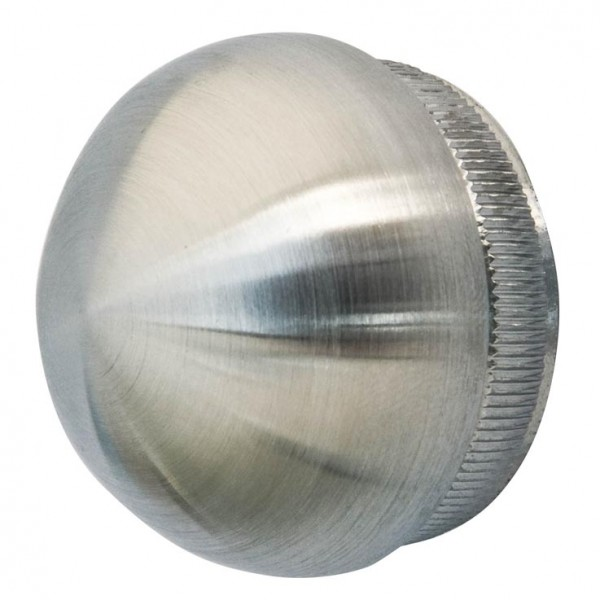 Endkappe V2A, Aisi 304, Guss,f.Rohr 33,7/2mm
