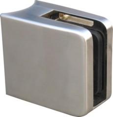 Glashalter V2A,45x45mm,f.Rohr 33,7mm,einschl.Stift