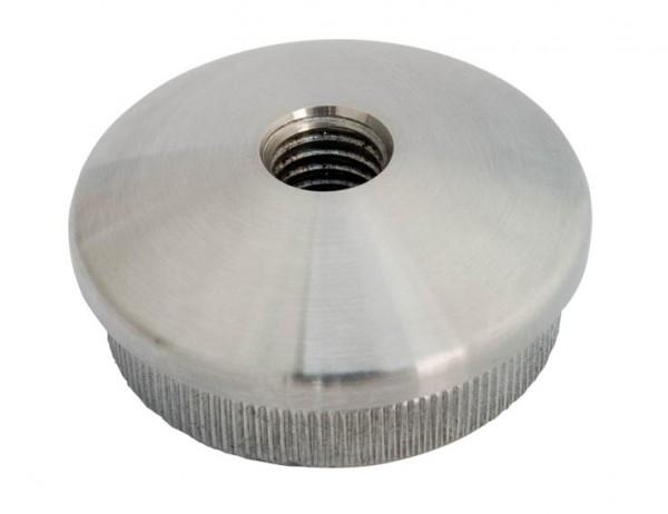 Endkappen V2A, 48,3/2,6mm, gewölbte Form, M8