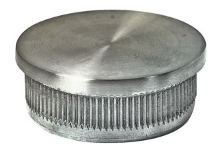 Endkappe,V4A,flach,Guss hohl, f.Rohr 33,7/2mm