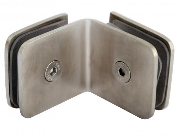 Boden-Glasverbinder V2A, 90° Winkel, 50x45mm
