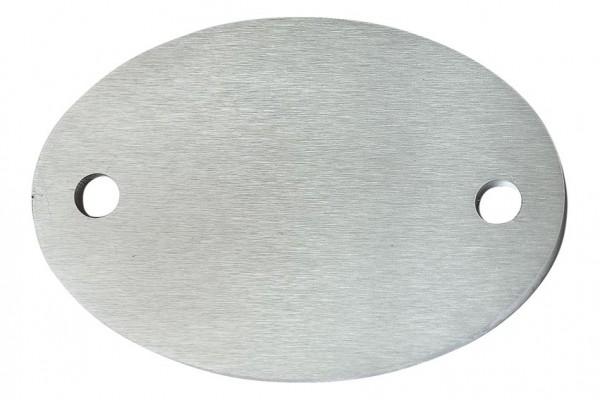Ankerplatte oval 130x90,V2A, Stärke 6mm,Loch 11mm