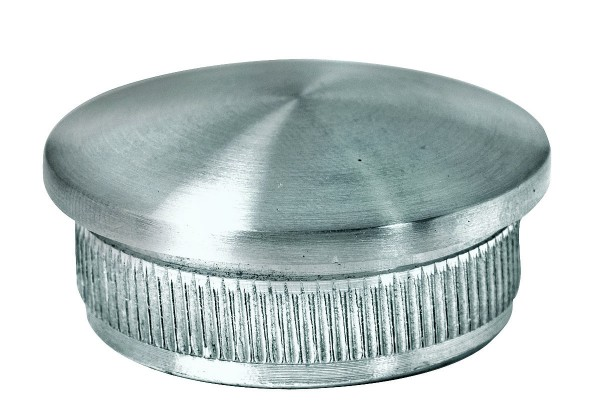 Endkappe V2A, 33,7/2mm ,Korn 240 geschl.