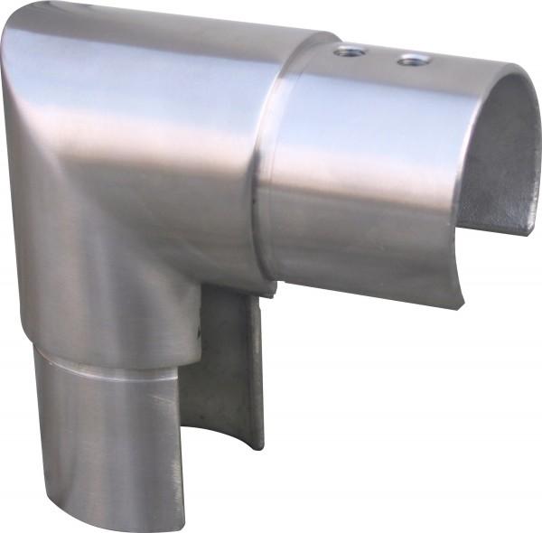 Eck-Verbinder senkrecht V2A f. Nutrohr 42,4x1,5mm