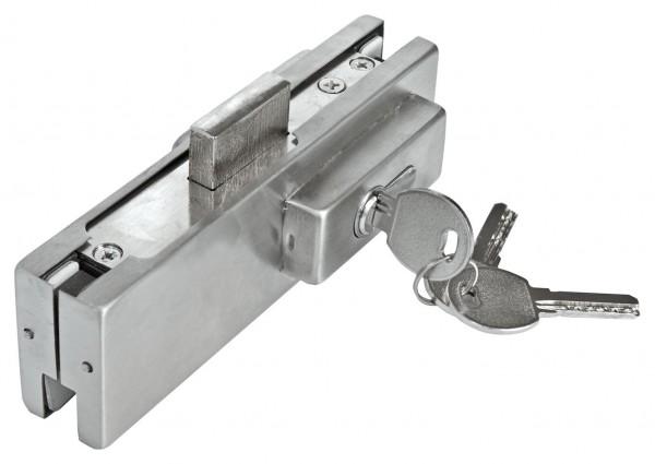 Verbinder V2A,f.zwei Glasplatten, 164x51mm,H=31mm