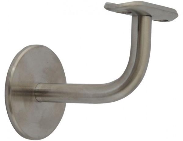 Handlaufträger Edelstahl V2A, Ansatz oben flach