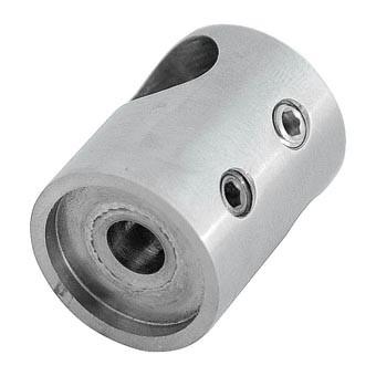 Traversenhalter V2A,30/22mm, flach, Loch ø 12,1mm