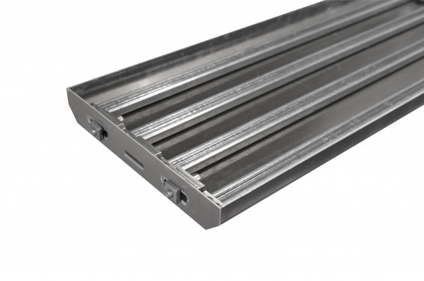Stufenwanne 1000x307mm Aluminium eloxiert