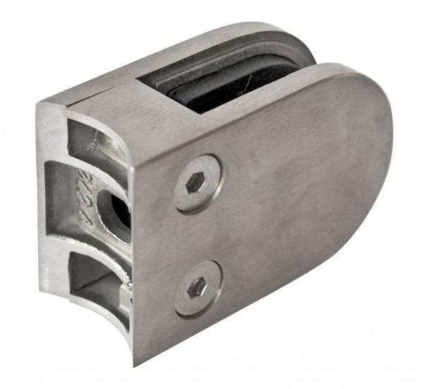 Glashalter 63x45mm, V2A, Rohr 42,4mm