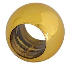 Kugel Messing, ø 25mm, mit Sacklochgewinde,