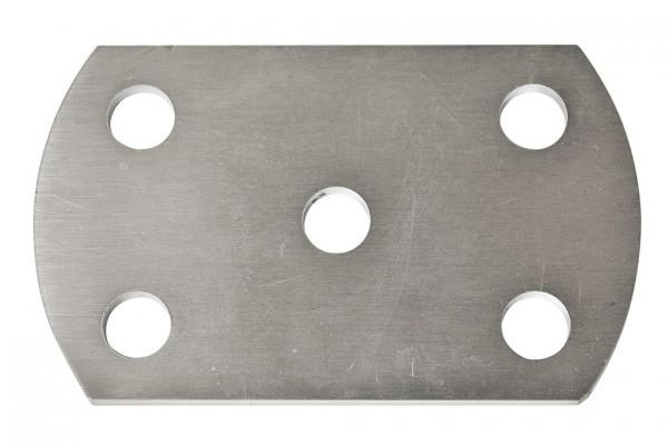 Ankerplatten 100x60 für Pfostenbefestigung-V2A,