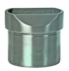 Aufsatz - flach, Aisi 304 - V2A, für Rohr 42,4/2mm