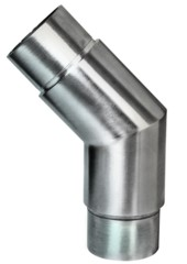 Rohr-Verbinder V4A, f. Rohr 42,4/2mm, 45° Aisi 316