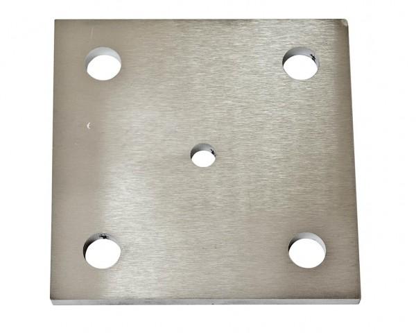 Ankerplatte, V2A,120/120/6mm, Loch ø 14,5mm,