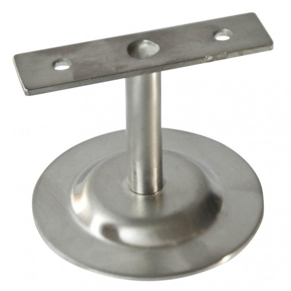 Handlaufstütze flach, V2A, Platte 80/2mm