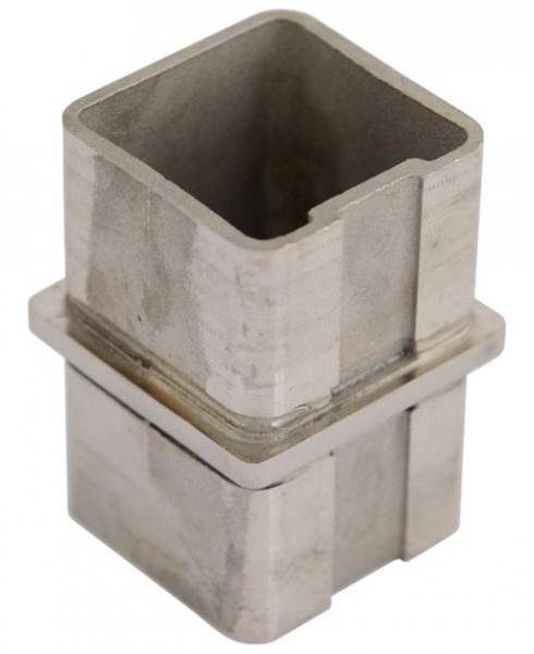 Verbinder, V2 A, für Rohr 40/40/2mm