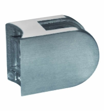 GlashalterV2A Edelstahl,halbrund,50/40mm,Rohr 33,7
