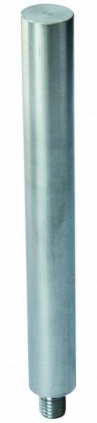 Stift als Aufsatz, ø 12mm, Gewinde M8, V2A, L=68mm