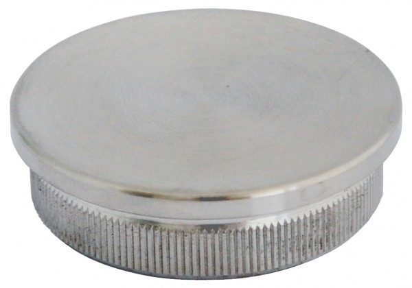 Endkappen - V2 A massiv, für Rohr 42,4/2mm, flach,