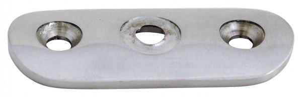 Anschraubplatte V2A für Rohr 48,3mm