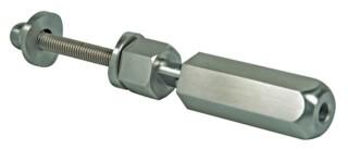 Seilspanner,V2A, für Rohr 42,4mm, für Seil 6mm