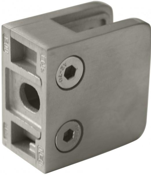 Glashalter V2A,Größe 45/45mm,Viereck,flach,