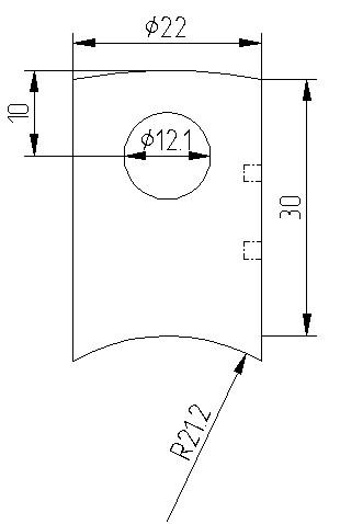 Traversenhalter mit Sackloch f. Rohre 42,4mm
