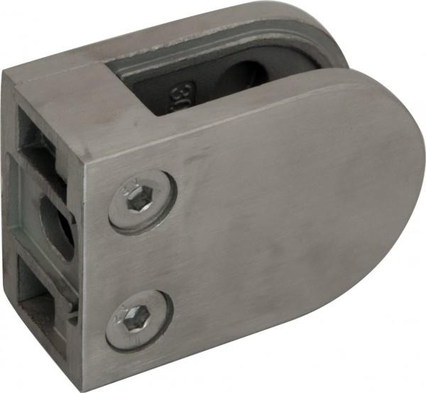 Glashalter 63x45mm V2A flach, mit Sicherungsstift