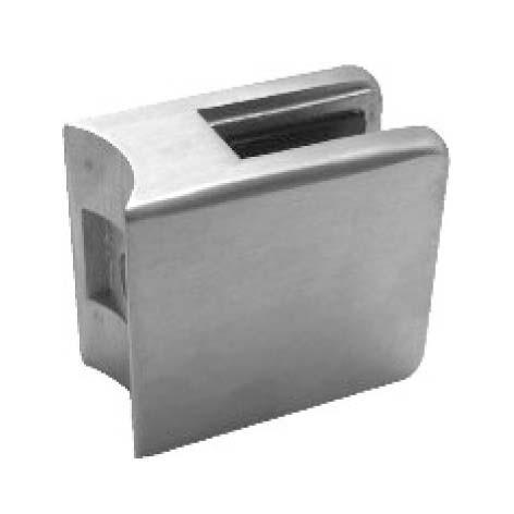 Glashalter, Zink roh,45/45mm, f.Rohr 33,7mm
