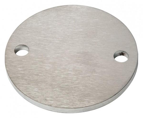 Ankerplatte ø 100/6mm V4A, Laserschnitt,2-Loch,