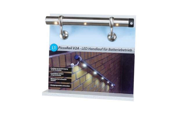 Muster LED-Handlaufset LH1 V2A 400mm