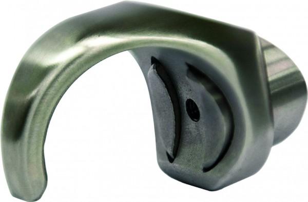 Cliphalter für Nutrohr ø42,4 mit Anschluß flach