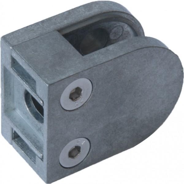Glashalter, Zink roh, Größe 50/40mm, flach,