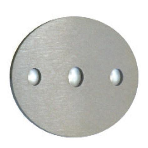 Ankerplatte oval 85x60, V2A, 5mm,Mittelloch 10mm
