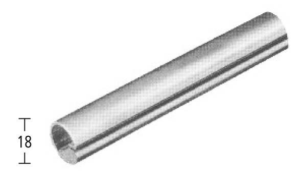 Einfassprofil ø18 für Bleche 2mm,V2A geschl., L=3m