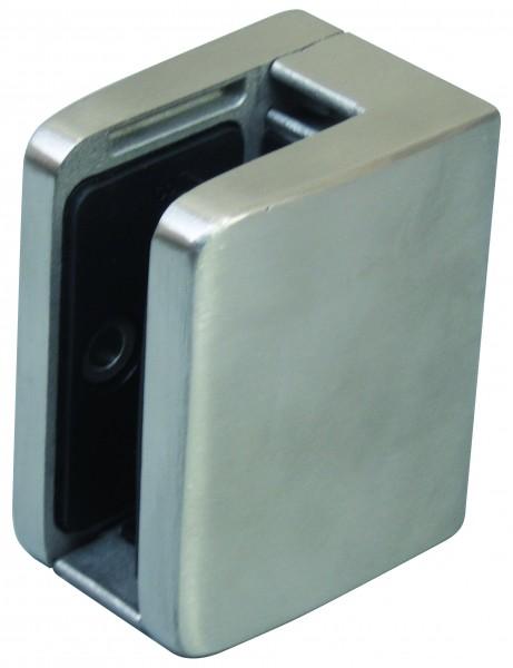 Glashalter V2A, 52/52mm,flach,mit Sicherungplatte,