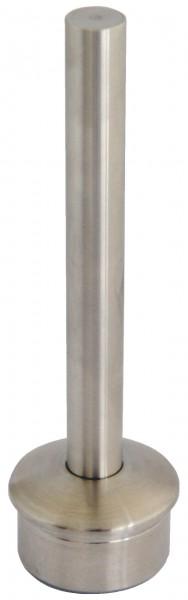 Rohraufsatz,V2A Edelstahl,flach.Kappe,f.Rohr 42,4