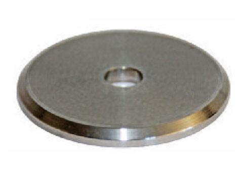 Ronde ø49mm V2A geschliffen, Stärke 4mm,
