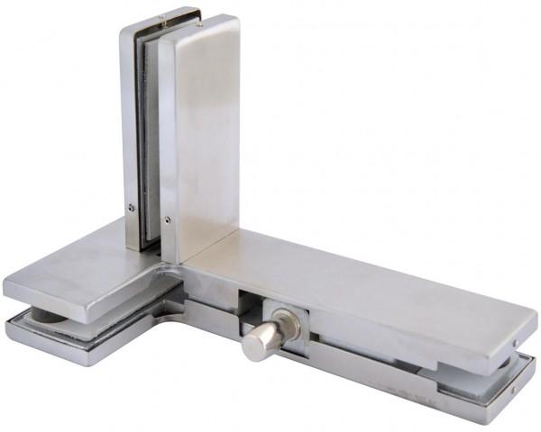 Verbinder Edelstahl V2A,f. zwei Glasplatten+Flügel