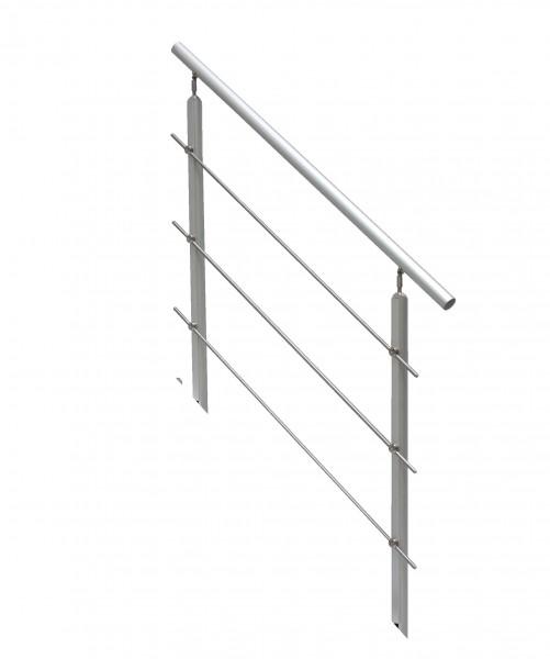AluTop-Geländer für max. 6 Stg., 2 Geländerstäbe