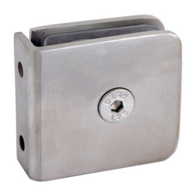 Verbinder V2A, f.Glastür, 45x45mm, Glasst. 6-12mm